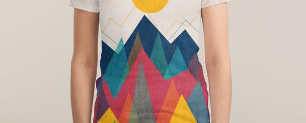 UPHILL BATTLE T-shirt Design by Budi Satria Kwan woman main image