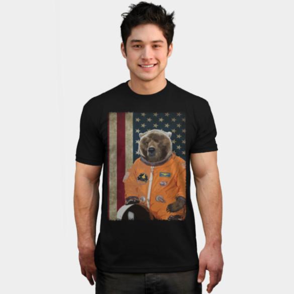 Astrobear T-shirt Design by ToruandMidori man tee