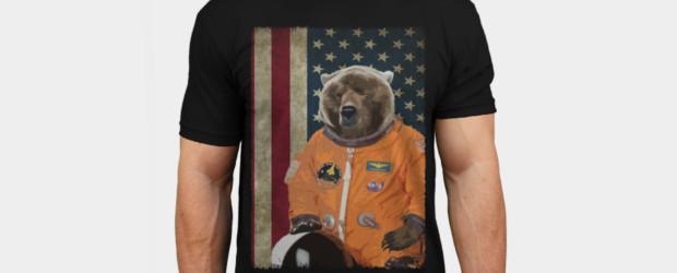Astrobear T-shirt Design by ToruandMidori man tee main image