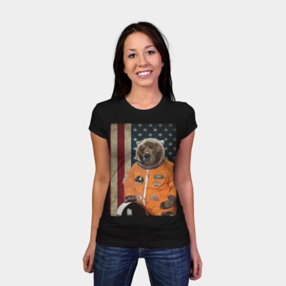 Astrobear T-shirt Design by ToruandMidori woman tee
