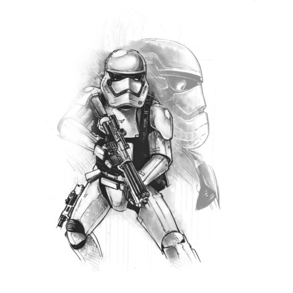 First Order Stormtrooper Sketch T-shirt Design