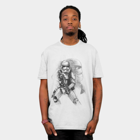 First Order Stormtrooper Sketch man tee
