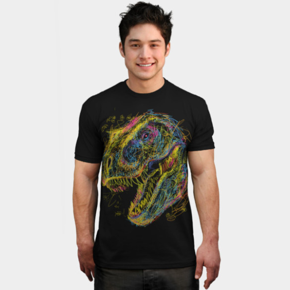 Kids Draw T-Rex man tee