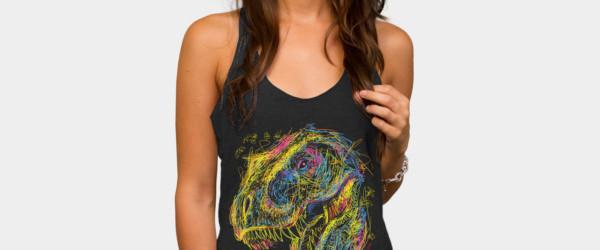 Kids Draw T-Rex tee design woman t-shirt
