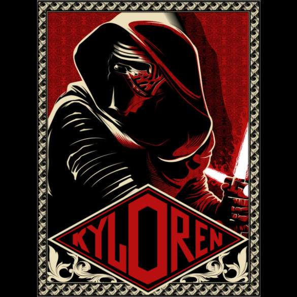 Kylo Ren Dark Ambition t-shirt Design