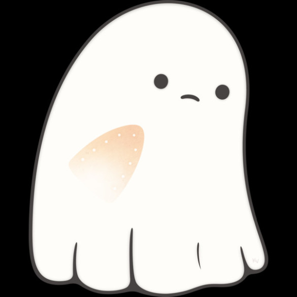 Sad Ghost T-shirt Design by kimvervuurt Design