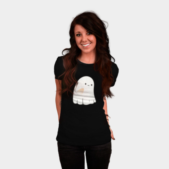Sad Ghost T-shirt Design by kimvervuurt woman
