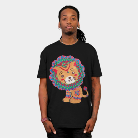 The Little King of the Jungle T-shirt Design by haidishabrina man tee