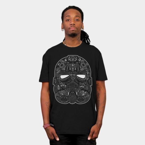 Tie Fighter Calavera T-shirt Design by StarWars design