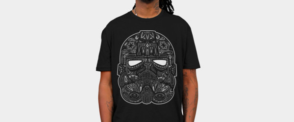 Tie Fighter Calavera T-shirt Design by StarWars man tee main image