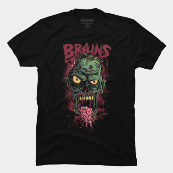 Brains! T-shirt Design by cabooth