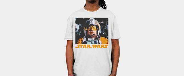 Cover Me Porkins T-shirt Design by StarWars man tee main image
