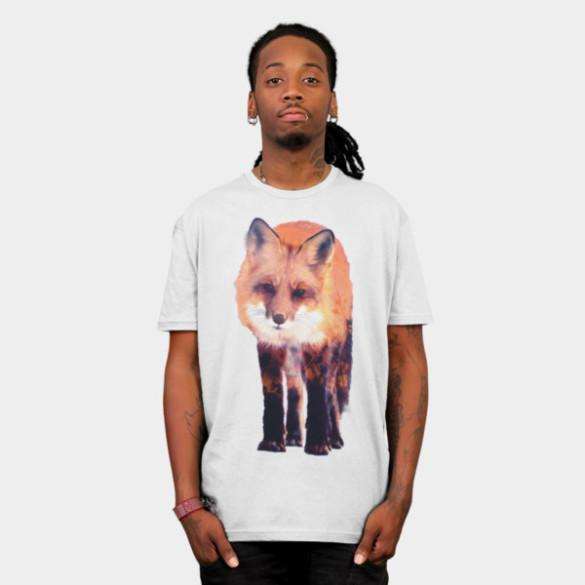 Fox T-shirt Design by Carli man tee
