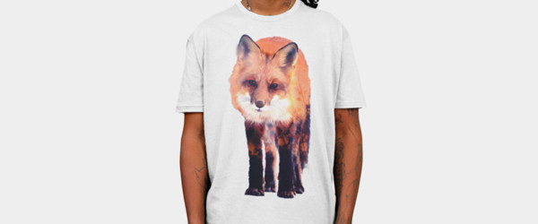 Fox T-shirt Design by Carli man tee main image