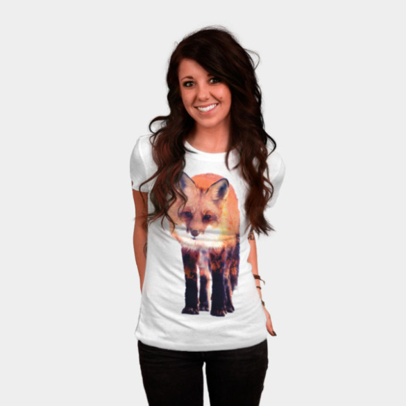 Fox T-shirt Design by Carli woman tee