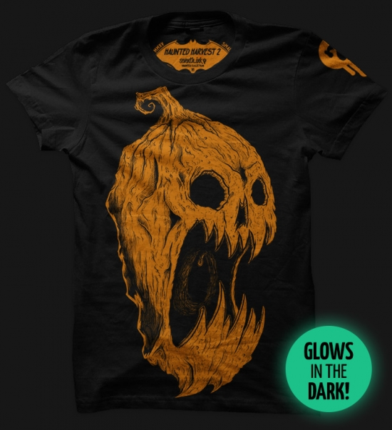 HAUNTED HARVEST 2 - GLOWS! T-shirt Design t-shirt