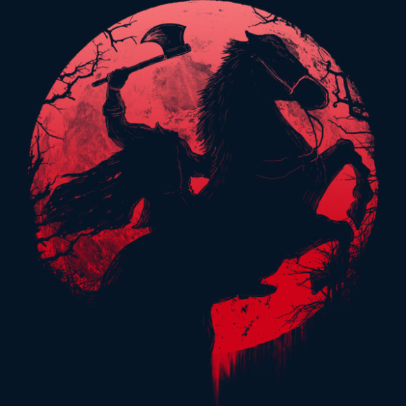 Headless Horseman T-shirt Design by opawapo design
