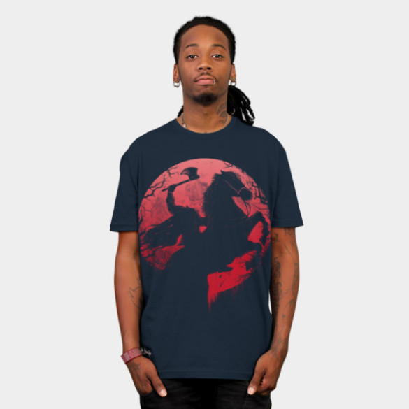 Headless Horseman T-shirt Design by opawapo woman tee