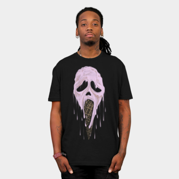 I Scream T-shirt Design by uwanlibner man tee