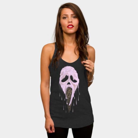 I Scream T-shirt Design by uwanlibner woman t-shirt