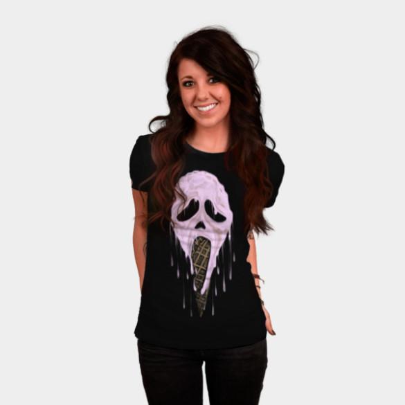 I Scream T-shirt Design by uwanlibner woman tee