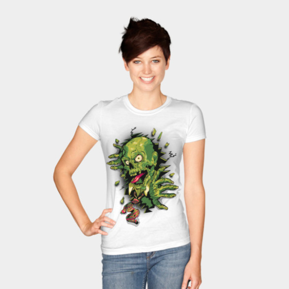 It's Toxic! T-shirt Design by vincentrogel woman tee