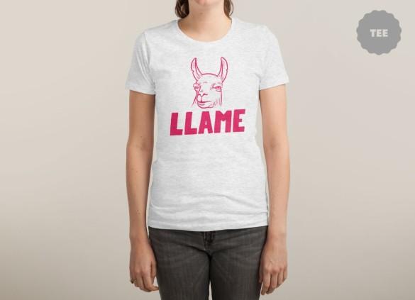 LLAME T-shirt Design by Mathijs Vissers woman tee