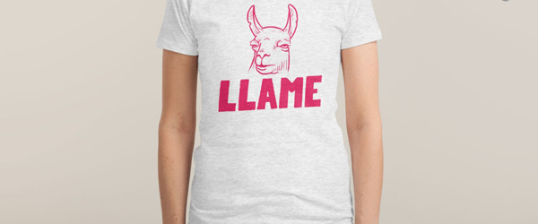 LLAME T-shirt Design by Mathijs Vissers woman tee main image