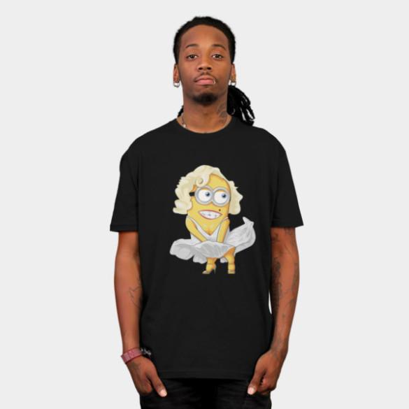 Maryline Minion T-shirt Design by yobann man