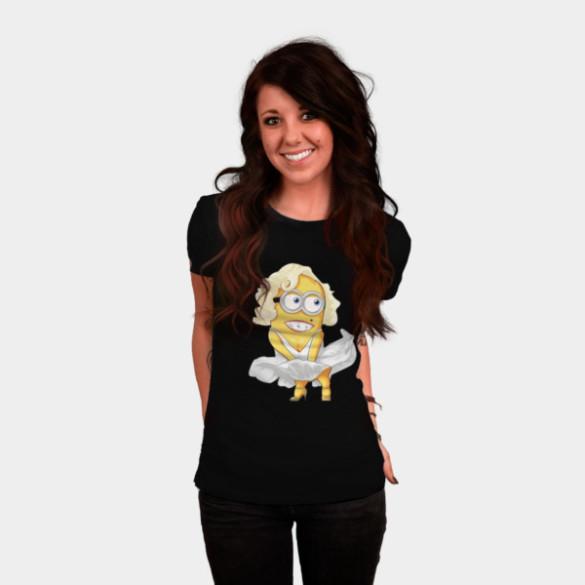 Maryline Minion T-shirt Design by yobann woman