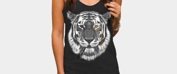 Mr. Tiger T-shirt Design by chetan woman t-shirt black main image