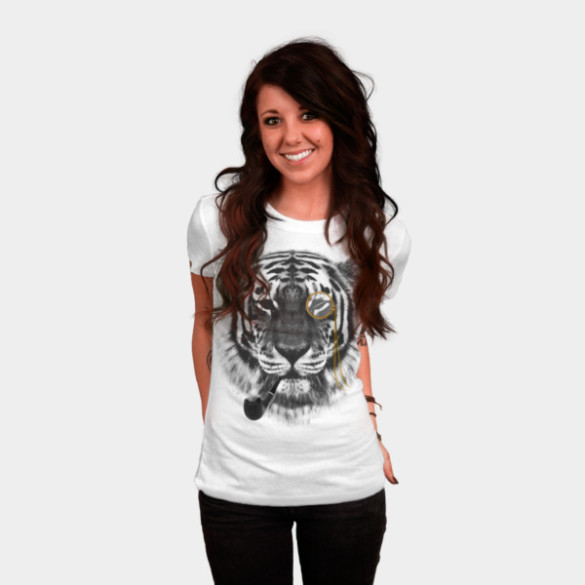 Mr. Tiger T-shirt Design by chetan woman tee