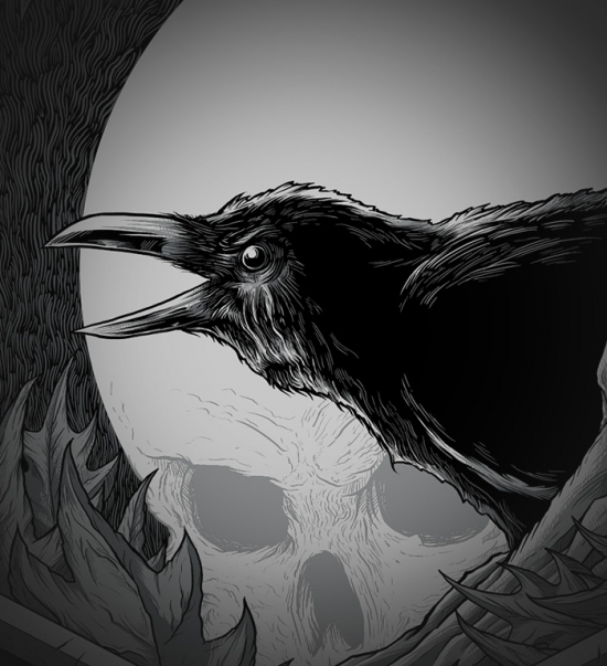NEVERMORE T-shirt Design Quoth the raven, Nevermore. details
