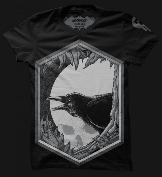 NEVERMORE T-shirt Design Quoth the raven, Nevermore.