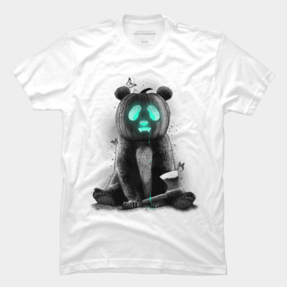 PANDALOWEEN T-shirt Design by ADAMLAWLESS