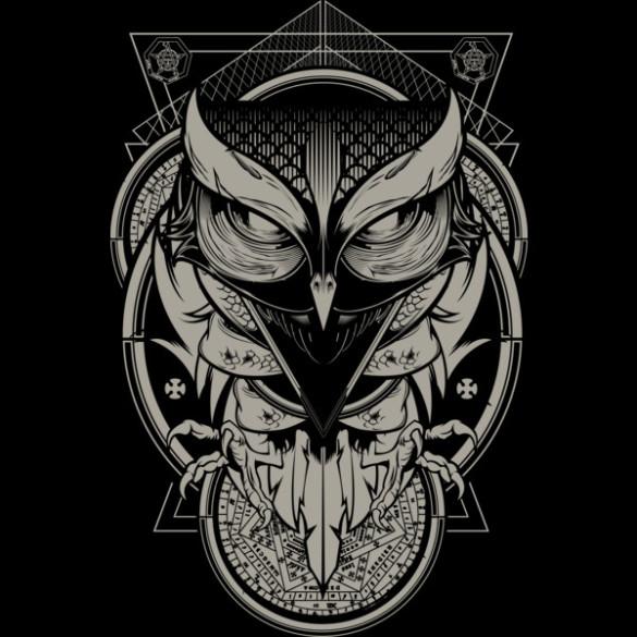 Alchemy Owl T-shirt Design by Hydro74 design