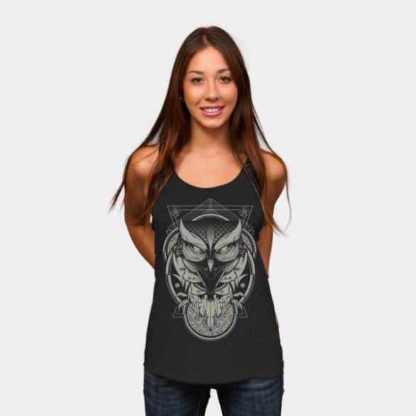Alchemy Owl T-shirt Design by Hydro74 design woman
