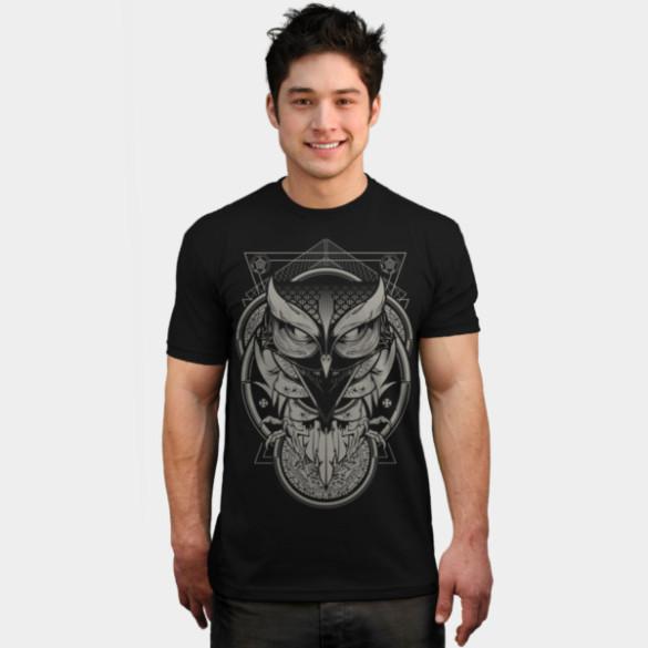 Alchemy Owl T-shirt Design by Hydro74 man tee