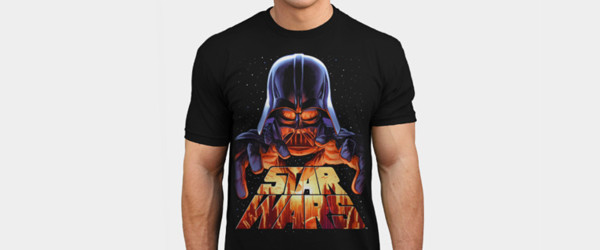 Darth Vader in Control T-shirt Design by StarWars man tee main image
