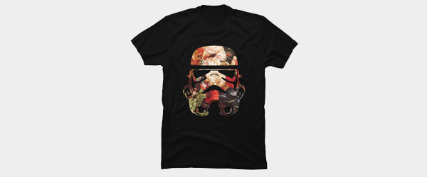 Floral Print Stormtrooper T-shirt Design by StarWars man tee main image
