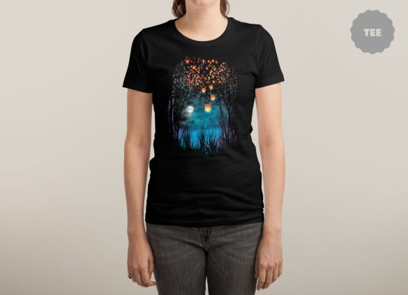 HOPE IN THE SKY Design by Angela Tarantula woman tee