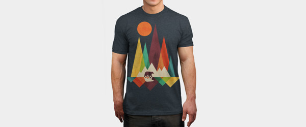 Mountain Bear T-shirt Design by radiomode man tee main image