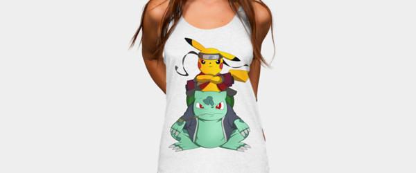 Pikuto! T-shirt Design by berserk7 t-shirt main imge