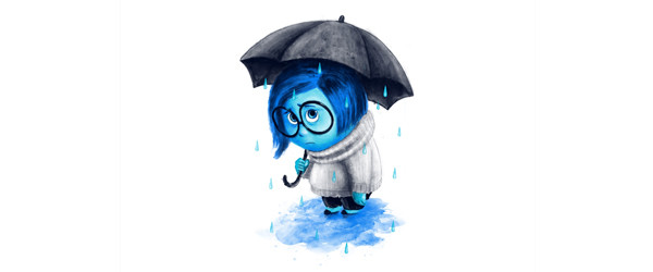 SAD RAIN T-shirt Design by Ibrahim Dilek  man tee main image