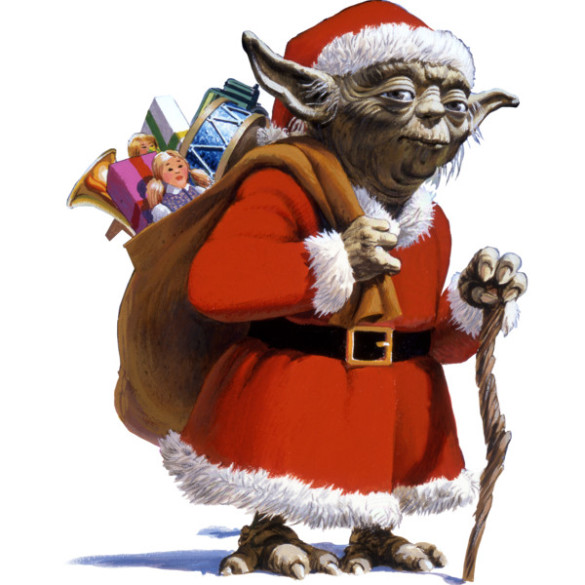 Santa Yoda T-shirt Design by StarWars design man