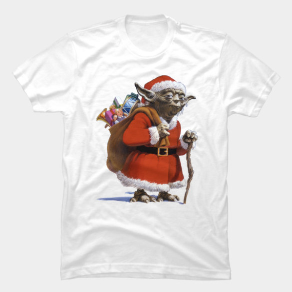 Santa Yoda T-shirt Design by StarWars tee