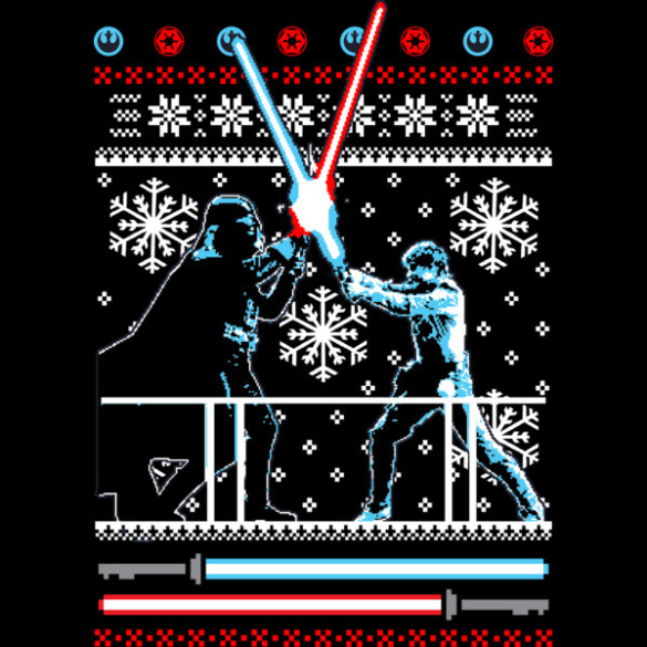 star wars christmas duel t shirt design by starwars design - Starwars Christmas