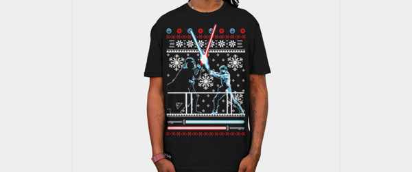 Star Wars Christmas Duel T-shirt Design by StarWars man tee main image