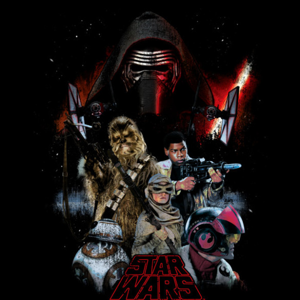 Star Wars The Force Awakens T-shirt Design by StarWars t-shirt design