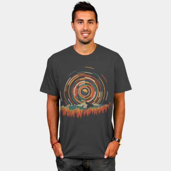 The Geometry of Sunrise T-shirt Design by digsy man